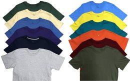 12 of Mens Plus Size Cotton Crew Neck Short Sleeve T Shirt, Assorted Colors, Size 6XL