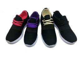 12 of Modern Two Tone Women's Sneakers In Black And Fuschia