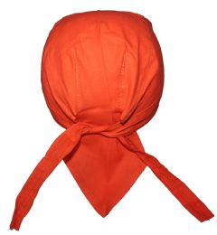 240 of Orange Food Service Medical Skull Cap Head Wrap DO-Rag Chef Cook Medical Field