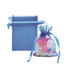 144 of Organza Pouches Blue