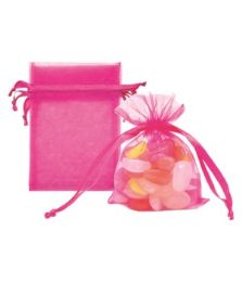 144 of Organza Pouches Hot Pink