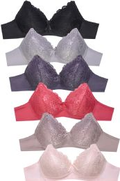 288 of Sofra Ladies Full Cup Lace No Wire Bra