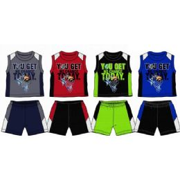 48 of Spring Boys Close Mesh Short Sets Newborn Toddler