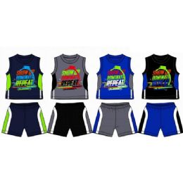 48 of Spring Boys Jersey Top With Close Mesh Short Sets Size 4-7