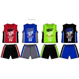 48 of Spring Boys Jersey Top With Close Mesh Short Sets Size Toddler