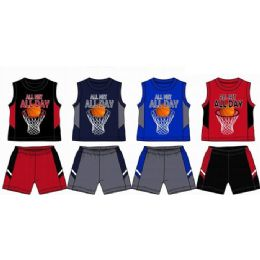 48 of Spring Boys Jersey Top With Close Mesh Short Sets Size 8-16