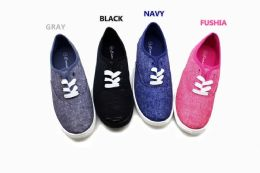18 of Street Style Women Canvas Sneaker Shoes With Laces In Fuschia