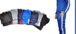 12 of Tricot Mens Jacket And Jogger Set In Solid Color Assorted Sizes