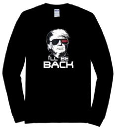 12 of Trump 2024 T-shirt I'll Be Back Black Long Sleeve Shirts Plus Size