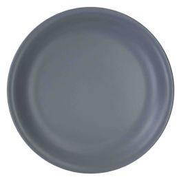 """12 of Home Basics 10.5"""" Ceramic Dinner Plate, Slate Grey"""