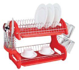 6 of Home Basics 2-Tier Plastic Dish Drainer