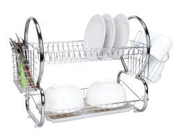 6 of Home Basics 2-Tier Chrome Dish Drainer