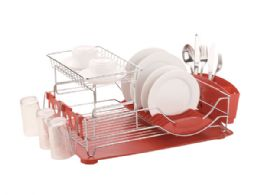 6 of Home Basics 2-Tier Deluxe Dish Drainer