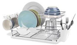 6 of Home Basics 2-Tier Dish Drainer