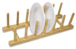 12 of Home Basics Foldable Bamboo Dish Rack