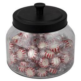 4 of Home Basics Artisan 1.5 Lt Glass Jar With Black Top