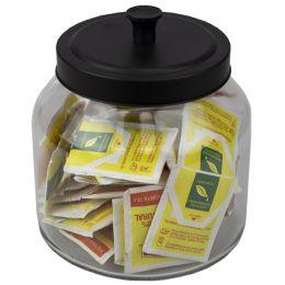 4 of Home Basics Artisan 1.9 Lt Glass Jar With Black Top