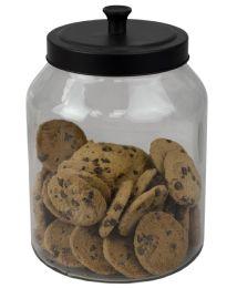 4 of Home Basics Artisan 3 Lt Glass Jar With Black Top