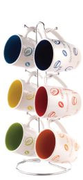 6 of Home Basics 6 Piece Mug Set With Stand