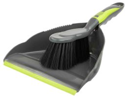 12 of Home Basics Brilliant Dust Pan Set, Grey/lime