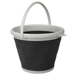 12 of Home Basics 10 Lt Collapsible Plastic Bucket, Grey