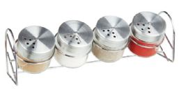 12 of Home Basics Sleek Spice Rack With 4 AiR-Tight Glass Spice Jars