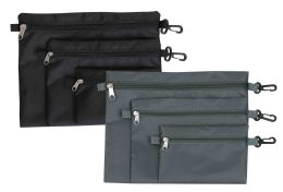 24 of Home Basics 3 Piece Travel Pouch Set