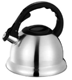 12 of Home Basics 3.0 Liter Brushed Stainless Steel Tea Kettle With Easy Grip Textured Handle, Silver