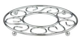 6 of Home Basics Scroll Collection Chrome Plated Steel Trivet