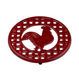 6 of Home Basics Cast Iron Rooster Trivet