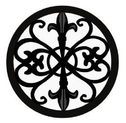 6 of Home Basics Cast Iron Fleur De Lis Trivet, Black