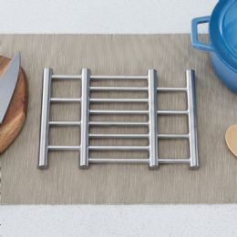 24 of Home Basics Expandable Stainless Steel Trivet, Silver