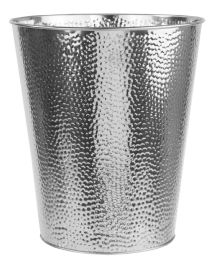 12 of Home Basics Hammered Stainless Steel 5 Liter Waste Bin, Silver