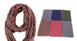 240 of Women's Geometric Print Light Weight Infinity Scarf