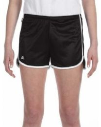 36 of Women's Russell Athletic Active Shorts In Black And White, Size Large