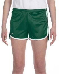 36 of Women's Russell Athletic Active Shorts In Dark Green And White,size Small