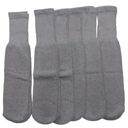 180 of Women Solid Grey Tube Sock Size 9-11
