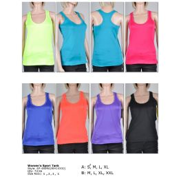 72 of Womens Fashion Sports Tank Assorted Colors And Sizes M-Xxl