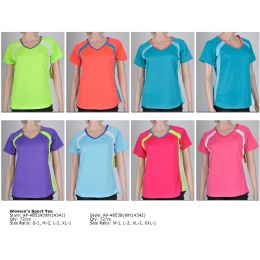 72 of Women's Fashion Sports Tops In Assorted Colors