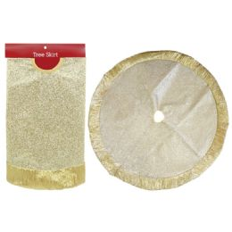 12 of Xmas Tree Skirt Gold