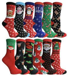 24 of Yacht & Smith Christmas Holiday Socks, Sock Size 9-11