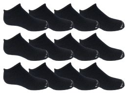 48 of Yacht & Smith Kids Unisex Low Cut No Show Loafer Socks Size 6-8 Solid Navy