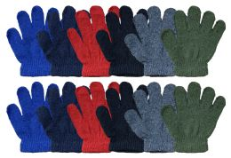 240 of Yacht & Smith Kids Warm Winter Colorful Magic Stretch Gloves Ages 2-5 240 Pairs Bulk Buy