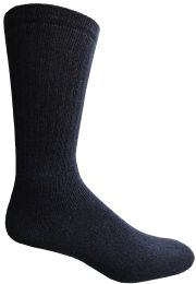 180 of Yacht & Smith Men's King Size Cotton Terry Cushioned Crew Socks Navy Size 13-16 Bulk Pack