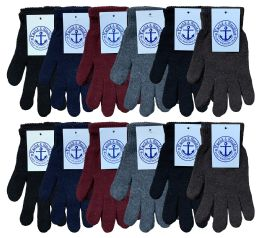240 of Yacht & Smith Men's Winter Gloves, Magic Stretch Gloves In Assorted Solid Colors Bulk Buy