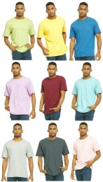 27 of Yacht & Smith Mens Assorted Color Slub T Shirt With Pocket - Size L
