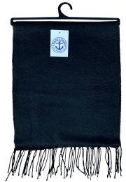 144 of Yacht & Smith Solid Black Color Warm Winter Fleece Scarves