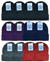 240 of Yacht & Smith Unisex Winter Knit Hat Assorted Colors Bulk Buy