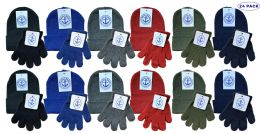 24 of Yacht & Smith Wholesale Kids Beanie And Glove Sets (beanie Glove Set, 24)