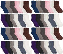 48 of Yacht & Smith Women Fuzzy Socks Crew Socks, Warm Butter Soft, Neutral Colors (size 9-11)